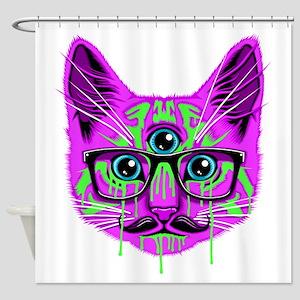 Hallucination Cat Shower Curtain