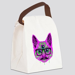 Hallucination Cat Canvas Lunch Bag