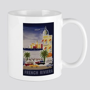 Vintage French Riviera Travel Ad Mug