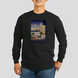 Vintage French Riviera Travel Ad Long Sleeve T-Shi