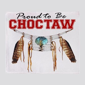 Proud to be Choctaw Throw Blanket