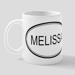 Melissa Oval Design Mug