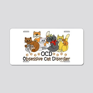 OCD Obsessive Cat Disorder Aluminum License Plate