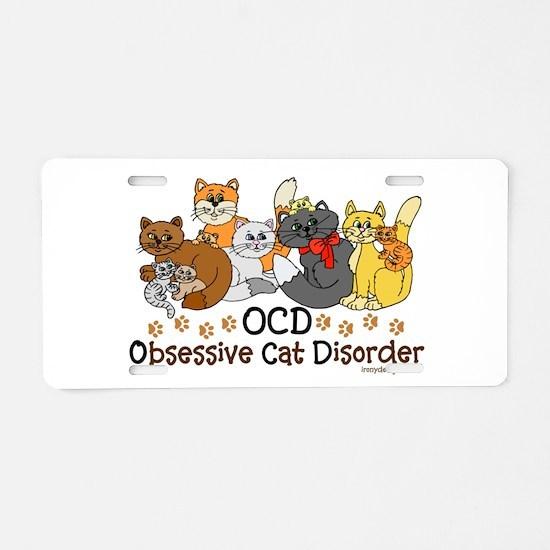 OCD Obsessive Cat Disorder Aluminum License Plate