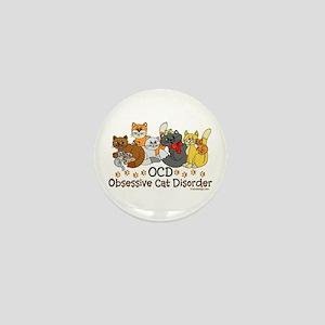 OCD Obsessive Cat Disorder Mini Button