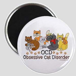 OCD Obsessive Cat Disorder Magnet