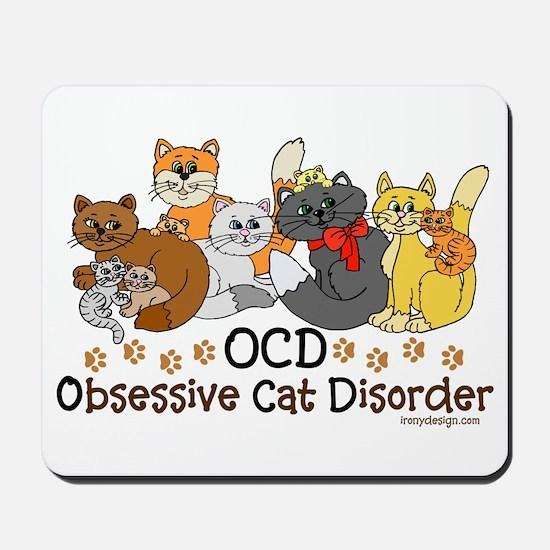 OCD Obsessive Cat Disorder Mousepad