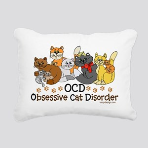 OCD Obsessive Cat Disorder Rectangular Canvas Pill