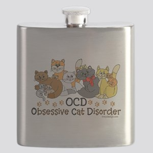 OCD Obsessive Cat Disorder Flask