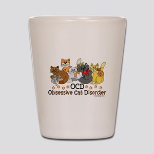 OCD Obsessive Cat Disorder Shot Glass
