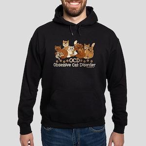 OCD Obsessive Cat Disorder Hoodie (dark)