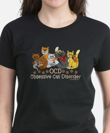 OCD Obsessive Cat Disorder Women's Dark T-Shirt
