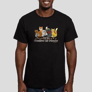 OCD Obsessive Cat Disorder Men's Fitted T-Shirt (d