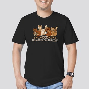 OCD Obsessive Cat Disorder Men's Fitted T-Shirt (d