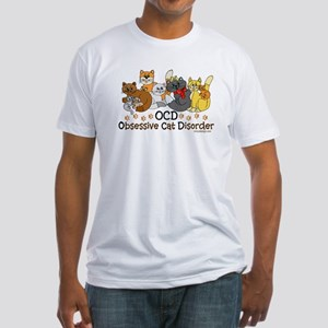 OCD Obsessive Cat Disorder Fitted T-Shirt