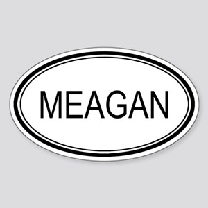 Meagan Oval Design Oval Sticker