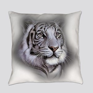 White Tiger Face Everyday Pillow