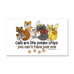 Cats are like potato chips Rectangle Car Magnet