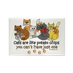 Cats are like potato chips Rectangle Magnet (10 pa