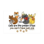 Cats are like potato chips 35x21 Wall Decal