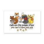 Cats are like potato chips 20x12 Wall Decal