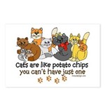 Cats are like potato chips Postcards (Package of 8