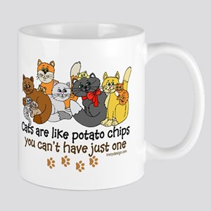 Cats are like potato chips Mug