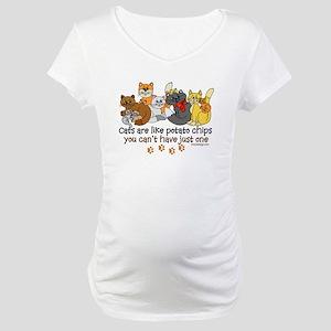 Cats are like potato chips Maternity T-Shirt