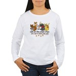 Cats are like potato chips Women's Long Sleeve T-S