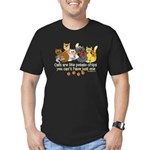 Cats are like potato chips Men's Fitted T-Shirt (d