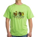 Cats are like potato chips Green T-Shirt