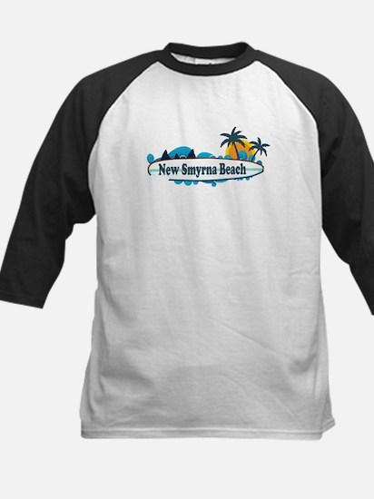 New Smyrna Beach - Surf Design. Kids Baseball Jers