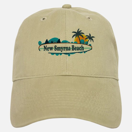New Smyrna Beach - Surf Design. Baseball Baseball Cap