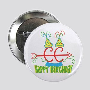 """Cross Country Birthday 2.25"""" Button"""