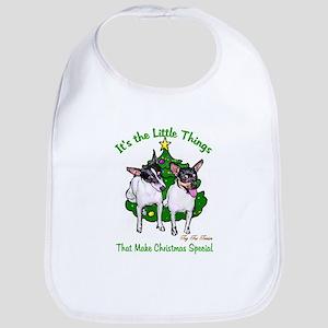 Toy Fox Terrier Christmas Cotton Baby Bib