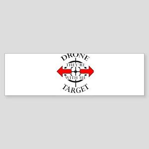 DRONE TARGET Bumper Sticker