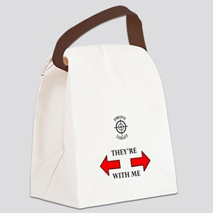 DRONE TARGET Canvas Lunch Bag
