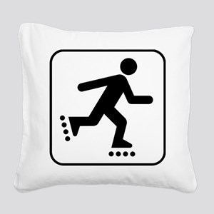 Rollerblader Square Canvas Pillow