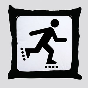 Rollerblader Throw Pillow