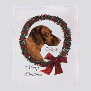 Vizsla Christmas Throw Blanket