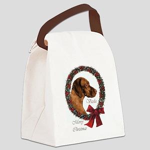 Vizsla Christmas Canvas Lunch Bag