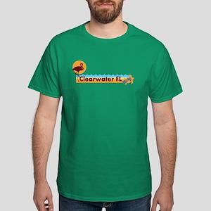 Clearwater FL - Beach Design. Dark T-Shirt