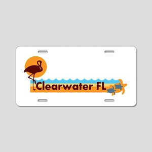 Clearwater FL - Beach Design. Aluminum License Pla