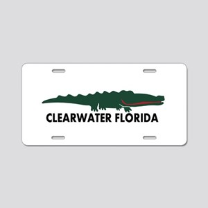 Clearwater FL - Alligator Design. Aluminum License