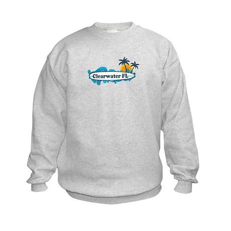Clearwater FL - Surf Design. Kids Sweatshirt