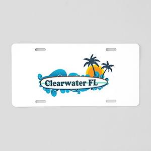 Clearwater FL - Surf Design. Aluminum License Plat