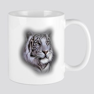 White Tiger Face Mugs