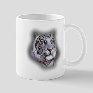 White Tiger Face Mugs