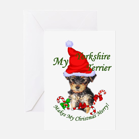 Yorkshire Terrier Christmas Greeting Card