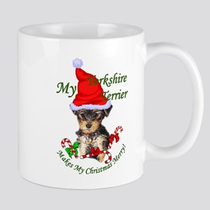 Yorkshire Terrier Christmas 11 oz Ceramic Mug